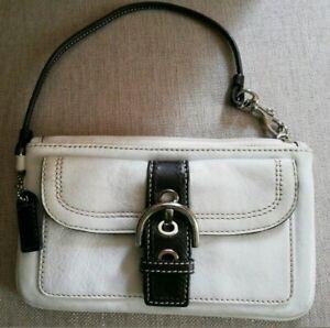 Coach clutch bag wallet purse wristlet real leather