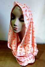Scarf Loop Wrap Shawl Neck Circle Women Snood Cowl Soft Winter Horses Stole