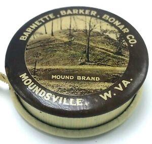 Barnette Barker Bonar Co Moundsville WV Clothing Celluloid Pocket Tape Measure