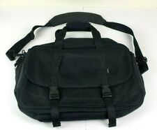 LL Bean Commuter Bag Crossbody Messenger Black Nylon Laptop Carryon
