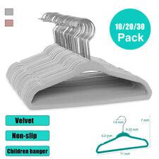 10/20/30 Pack Non-Slip Velvet  Kids Hangers For Jackets, Pants, & Dress Clothes