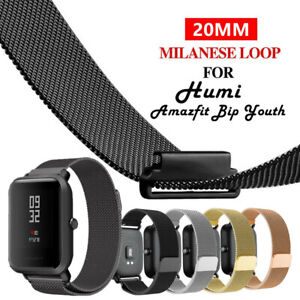20mm Magnetic Milanese Loop Wristband Watch Band Strap For Amazfit Bip Youth