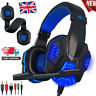 Wired Gaming Headset with Mic Headphones Stereo For Computer PS4 Xbox One PC