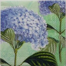 HYDRANGEA  FOUR(4) single COCKTAIL SIZE paper napkins for decoupage 3-ply