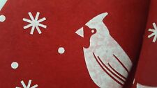 Holiday Products Vintage Red Felt Christmas Tree Skirt White Stencils Unused