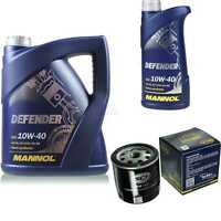 Ölwechsel Set 6L MANNOL Defender 10W-40 Motoröl + SCT Filter KIT 10190675