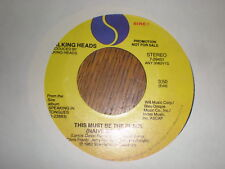 Talking Heads 45 Burning Down THe House PROMO