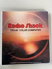 Vintage Radio Shack TRS-80 Color Computer Color Profile Manual Book Binder