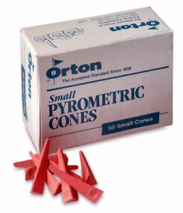 Brand New Orton Cone Small Pyrometric Cones For Ceramic Kilns Box of 50 CONE 06