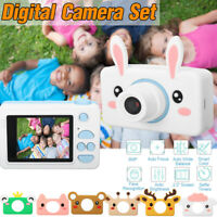 Kids Digital Camera Rechargeable 1080p HD Support 32G Video Camcorder w/Cover R