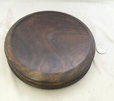 "6.5"" Inner Diameter 8"" OD Chinese Oriental Wooden Lid Or Stand Ginger Jar Vases"