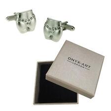 Mens Crystal G String Thong Cufflinks & Gift Box By Onyx Art 18th Birthday