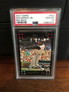 2007 Topps RED BACK Ken Griffey Jr. Baseball Card #450 PSA 10 Gem POP 2