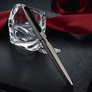 Hero 2191 Gray Fountain Pen 14K Gold Nib Engraving Ripple Rollerball Refill Case