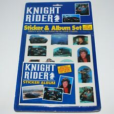 Knight Rider Vintage Puffy Sticker & Album Set 1984 Gordy Int David Hasselhoff