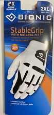 Bionic Gloves Men's StableGrip With NaturalFit Golf Glove Left 2XL White Leather