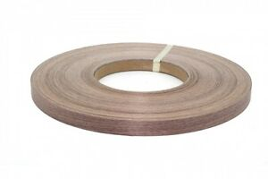 "Walnut Pre-Glued unfinished 7/8""x250' Wood Veneer edgebanding"