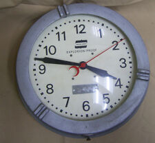 Vintage Crouse-Hinds Explosion Proof deco Wall Clock 110V Steampunk Industrial