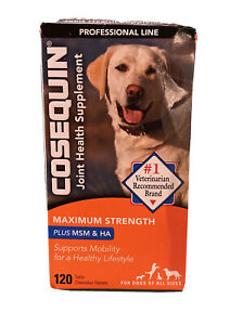 Cosequin Joint Health Supplement 120 Tablets Exp 06/2023 MSM & HA Sealed