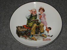 Norman Rockwell 1984 Porcelain 6 inch Collector's Plate in box The Cobbler