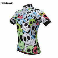 WOSAWE Mens Cycling Jerseys Breathable MTB Bike Short Sleeve Shirt Tops Elastic