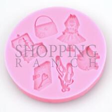 Doll Piggy Jewellery Box Diary Silicone Mould Cupcake Topper Cake Mold