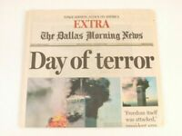 Sept. 11, 2001 9/11 Newspaper Dallas Morning News 8 Page Special Day of Terror