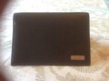 Mens Coach Card Holder Slim Case Wallet 5 Slots Credit Cards / ID Black Leather