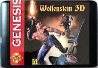 Wolfenstein 3D (1992) 16 Bit Game Card For Sega Genesis / Mega Drive System