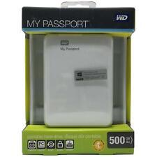 WD 500GB My Passport USB 3.0 Portable Hard Drive (White) WDBKXH5000AWT