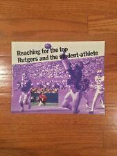1986 Rutgers University College Football Brochure Publication EX-MT w/ Bruce