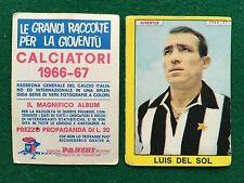 CALCIATORI 1966/67 66/1967 JUVENTUS Luis DEL SOL Figurina Sticker Panini (NEW)