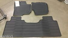 NEW 2015-18 FORD F-150 SUPER CAB TRAY FLOOR Mat BLACK Rubber All Weather 3-Pcs