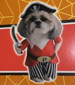 "NEW Cute "" PIRATE "" Pet DOG Halloween COSTUME Spooky Village ~  FREE SHIPPING!"