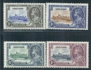 GOLD COAST 108-11 SG113-16 MH 1935 KGV Silver Jubilee Issue set of 4 Cat$26