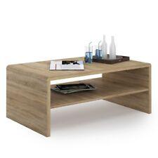 crescita Table basse en sonama chêne avec étagère en bois moderne stylé élégant