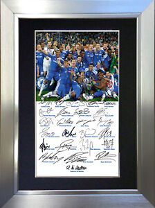 CHELSEA CHAMPIONS 2012 Signed Autograph Mounted Reproduction Photo A4 Print 58