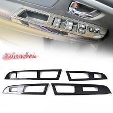 Dry Carbon Cover Trim For Subaru WRX STI 4th Interior Window Switch Panel 4-Door