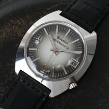 1973 Stainless Steel Bulova Accuquartz Mens Watch Excellent Condition Running