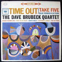 """The Dave Brubeck Quartet """"Time Out"""" 1959 (1962) Vinyl LP Record Album"""