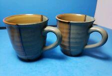 "Sango Gold Dust Green Mug 3.75"" #5040 Set of 2 EUC"