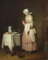 Jean Baptiste Simeon Chardin The Attentive Nurse Giclee Paper Print Poster