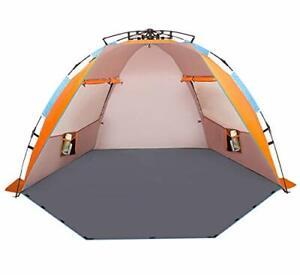 Oileus X-Large 4 Person Beach Tent Sun Shelter - Portable Sun Shade Instant T...