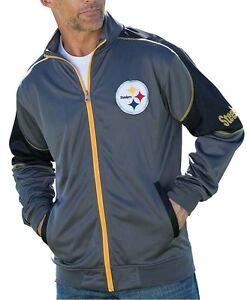 Pittsburgh Steelers NFL Mens Full Zip Tricot Track Jacket Big & Tall Sizes