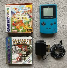 Nintendo Game Boy Color Handheld Konsole Bundle-Teal