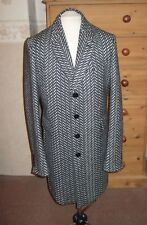 NEW PAUL SMITH MANS BUTTONED WOOL SLIM FIT COAT   UK M