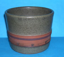 S.K.Studio Pottery - Attractive Mixed Glaze 'Mottled Green & Natural' Planter.