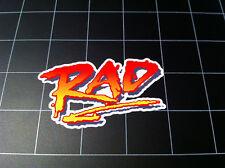 RAD 1986 BMX movie style logo decal / sticker racing 80s GT Dyno Redline Haro