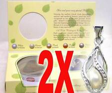 Wholesale 2X Boxes helix(drop) pendant Wish Pearl Necklace wish come true-who120