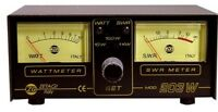 Zetagi 203 Twin SWR Watt Power Meter 3-200 Mhz CB Ham Radio